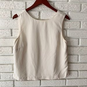 Tommy Bahama Silk Tank Top Blouse White Size Small